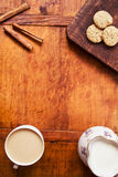 Breakfast set with coffee and cookies Stock Photography