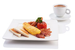Breakfast set Stock Photography