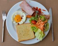 Breakfast set on dish Stock Image
