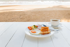 Free Breakfast Set On White Table. Stock Images - 72527064