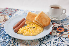 Breakfast set. On a plate Stock Images