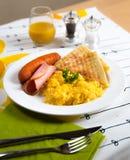 Breakfast set Stock Photos