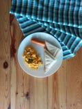 Breakfast set. Simple easy breakfast royalty free stock photography