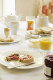 Breakfast Set On Table Royalty Free Stock Photography