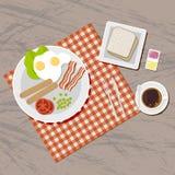 Breakfast set. Top view. Stock Image
