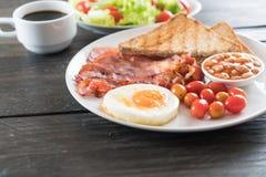 Breakfast set on wood Royalty Free Stock Photo