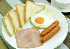 Breakfast set Royalty Free Stock Image