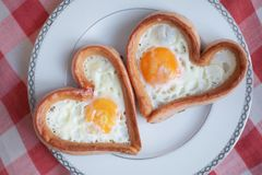 Breakfast in the shape of a heart Stock Photos