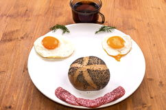 Breakfast Smile Stock Images