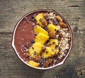 Breakfast smoothie bowl Stock Image