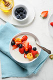 Breakfast smothie bowl with berries Royalty Free Stock Photo