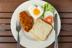 Breakfast with steak Stock Photos
