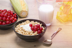 Breakfast stilllife with cereals Royalty Free Stock Image