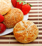Breakfast with strawberry Stock Images