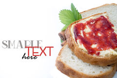 Breakfast with strawberry jam. Royalty Free Stock Photos