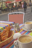 Breakfast on the street Stock Image