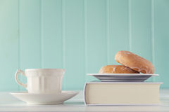 Breakfast and study Stock Photography