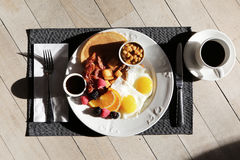 Breakfast by Sunlight Royalty Free Stock Images
