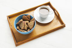 Breakfast. Sweet cookies end coffe Royalty Free Stock Photography