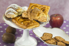 Breakfast sweets and fruits Stock Photo