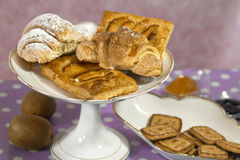 Breakfast sweets and fruits Stock Image