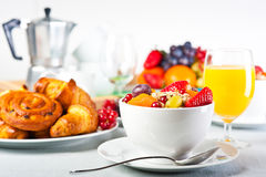 Breakfast table Royalty Free Stock Photos