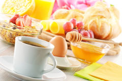 Breakfast on the table Royalty Free Stock Photos