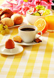 Breakfast on the table Royalty Free Stock Photography