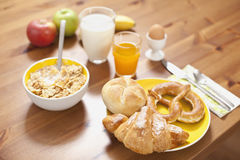 Breakfast on table Royalty Free Stock Photo