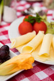 Breakfast table with cheese Stock Photos