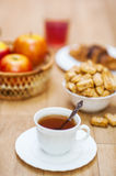 Breakfast on table Royalty Free Stock Images