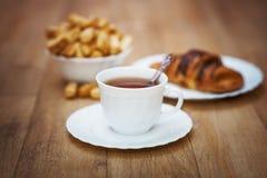 Breakfast on table Royalty Free Stock Photos