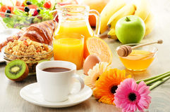 Breakfast on the table Royalty Free Stock Image