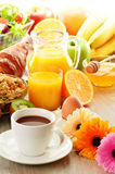 Breakfast on the table Stock Photo
