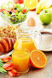 Breakfast on the table Stock Images