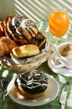 Breakfast Table In Dramatic Morning Light Royalty Free Stock Photography