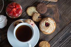 Breakfast table with pastries Stock Image