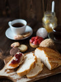 Breakfast table with pastries Royalty Free Stock Photo