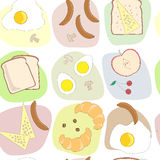 Breakfast table seamless pattern Royalty Free Stock Image