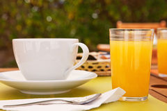 Breakfast table Stock Photography