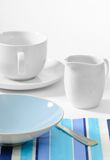 Breakfast Table Setting Stock Photo