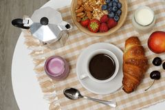Breakfast table Stock Image