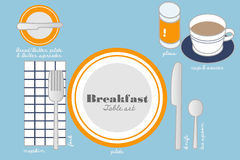 BREAKFAST TABLE SETTING Royalty Free Stock Image