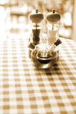 Breakfast table setting. On sunny morning , warm tone Royalty Free Stock Photography