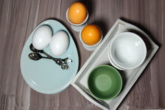 A breakfast table setting Royalty Free Stock Photo