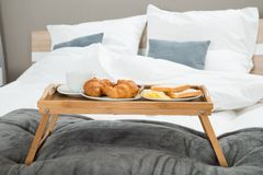 Breakfast On A Table Tray Royalty Free Stock Image