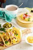 Breakfast tacos with eggs Stock Photos