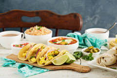 Breakfast tacos with eggs Royalty Free Stock Images