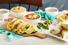 Breakfast tacos with eggs Stock Photography