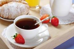 Breakfast with tea Royalty Free Stock Photos